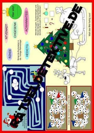 Tischunterlage / Platzdeckchen für Weihnachten