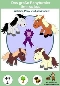 Schatzsuche Rätsel Pony