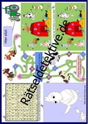 Tischunterlage / Platzdeckchen: Bauernhoftiere