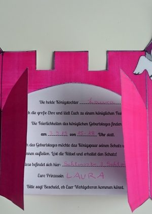 Schnitzeljagd: Prinzessinnenprüfung – Der Schlossschatz 4-7 Jahre