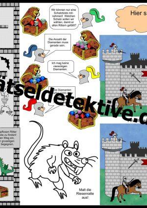 Tischunterlage / Platzdeckchen: Ritter