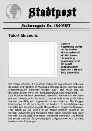 Schnitzeljagd: Der Raub im Kunstmuseum ab 11 Jahre
