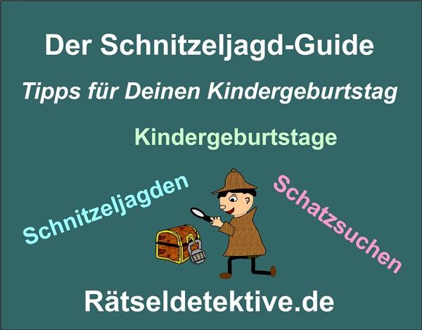 Häufig Schnitzeljagd Ideen für deinen Kindergeburtstag - Rätseldetektive HZ63