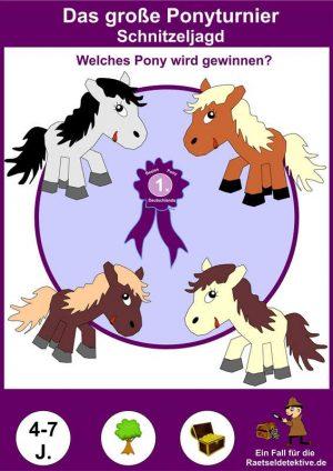 Schnitzeljagd: Das große Pony-Turnier 4-7 Jahre