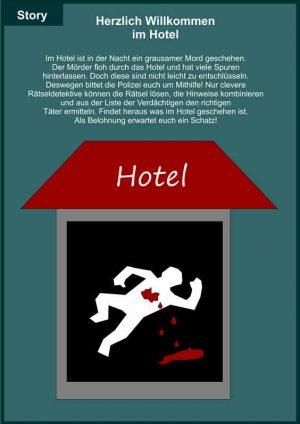 Schnitzeljagd (Mörderjagd): Mord im Hotel  9-14 Jahre
