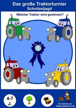 Schnitzeljagd: Das große Traktor-Turnier 4-7 Jahre