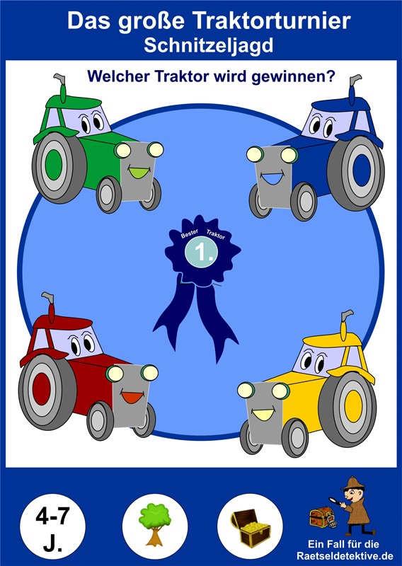 Kindergeburtstag Traktor Rätsel Schatz