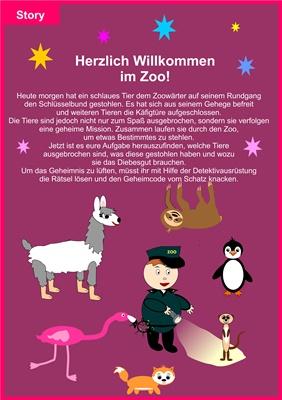 Schnitzeljagd: Ausbruch der Zootiere – 9-14 Jahre