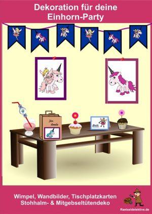 Dekoration für deine Einhorn-Party