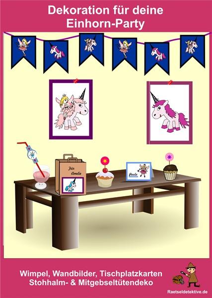 Wimpel, Tischkarten Bilder