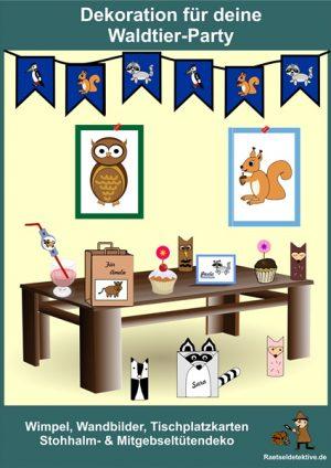 Dekoration für deine Waldtier-Party