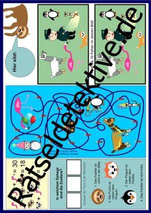 Tischunterlage / Platzdeckchen: Zootiere