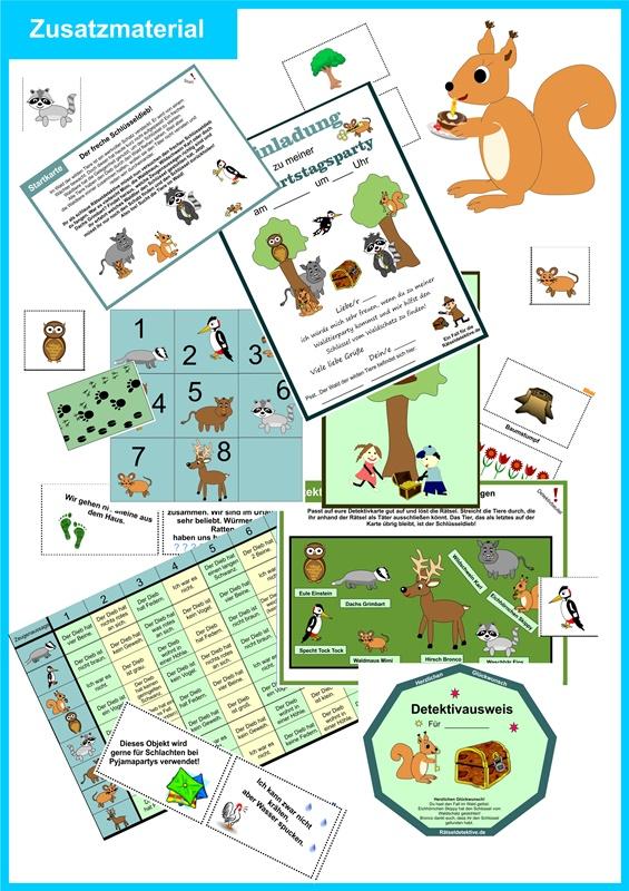 Wald Tiere Rätsel Schatzsuche Spiele Aufgaben