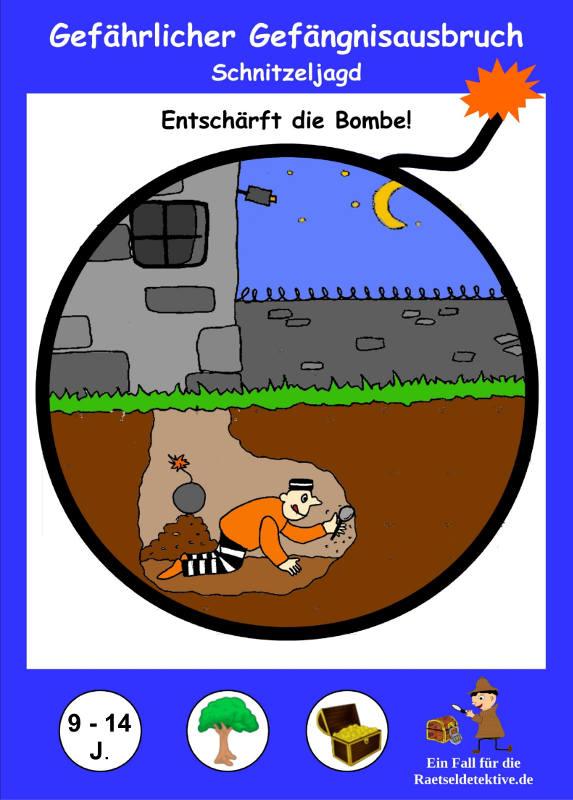 Cover Detektiv Schnitzeljagd Gefährlicher Gefängnisausbruch