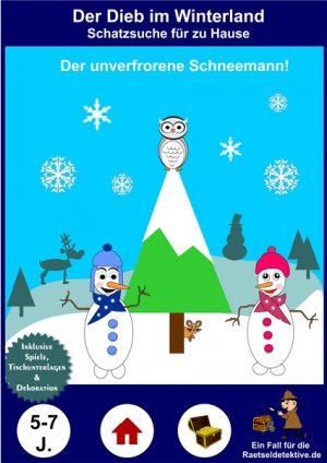 Schneemann-Schatzsuche: Der Dieb im Winterland