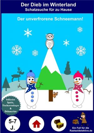 Raetseldetektive.de - Cover Schneemann Schatzsuche - Der Dieb im Winterland