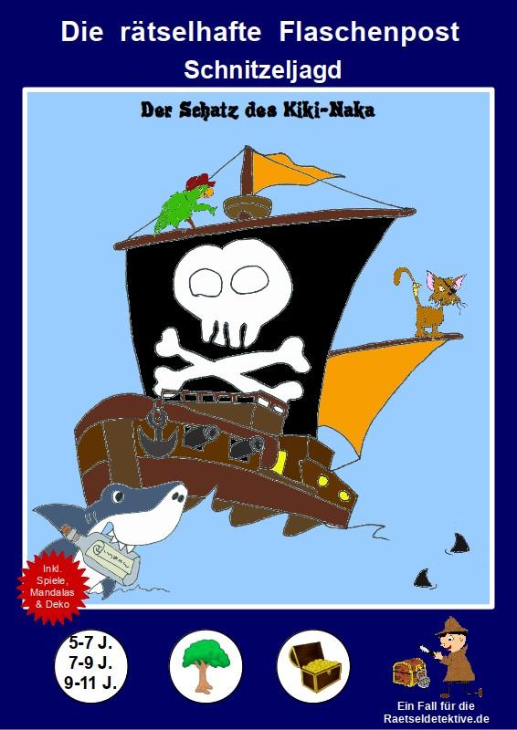 raetseldetektive.de - Piraten Schnitzeljagd - Die rätselhafte Flaschenpost