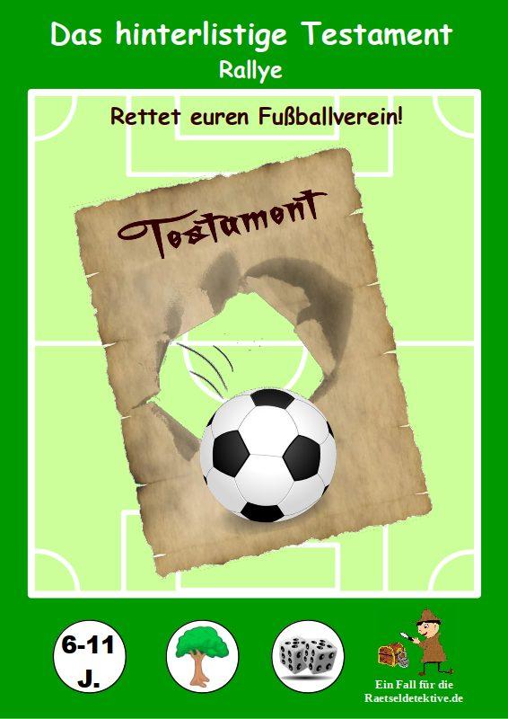 Rätseldetektive - Fußball Rallye: Das hinterlistige Testament - Cover