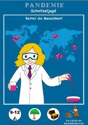 raetseldetektive.de Schnitzeljagd Pandemie - Rettet die Menschheit Titelbild