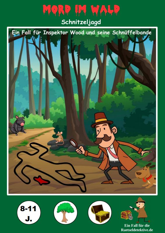 Cover Raetseldetektive.de Detektiv Schnitzeljagd Mord im Wald