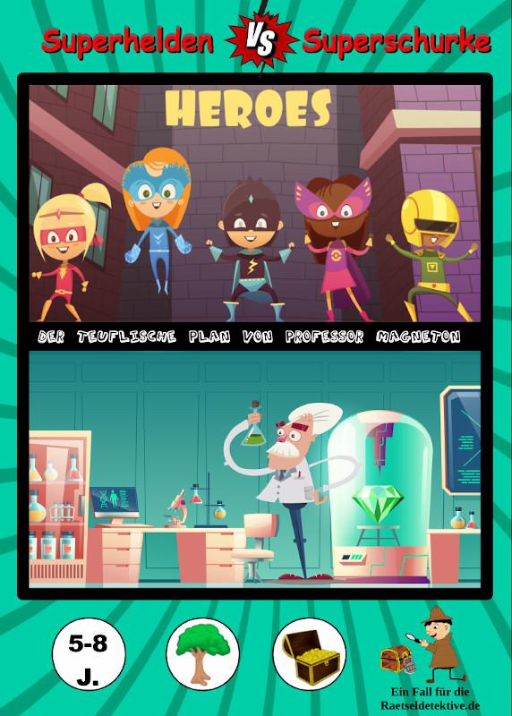 Raetseldetektive.de Schnitzeljagd Superhelden Superschurke Titelbild