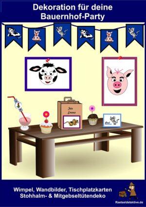 Dekoration für deine Bauernhof-Party