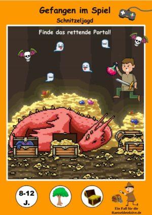 Schnitzeljagd Gefangen im Spiel der 80er Jahre - Gamer Party - Titelbild