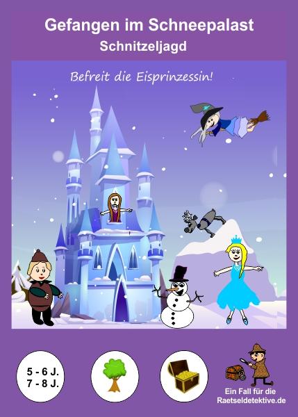 Raetseldetektive.de - Cover Schnitzeljagd Gefangen im Schneepalast