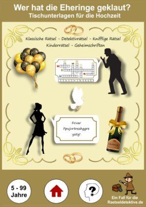 Hochzeitsspiel: Wer hat die Eheringe gestohlen?